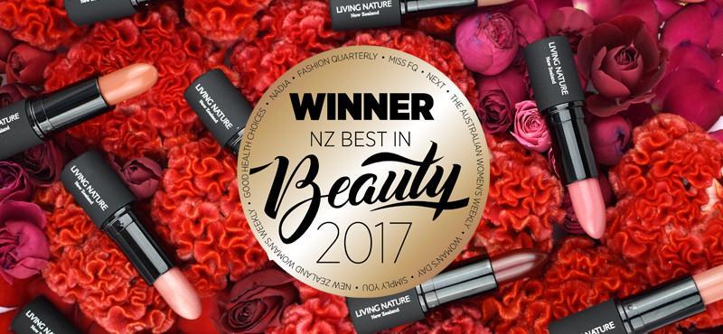 Son môi Living Nature đạt giải thưởng NZ Best in Beauty 2017