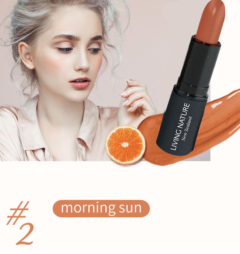 Son môi Living Nature màu cam đất - Morning Sun 02