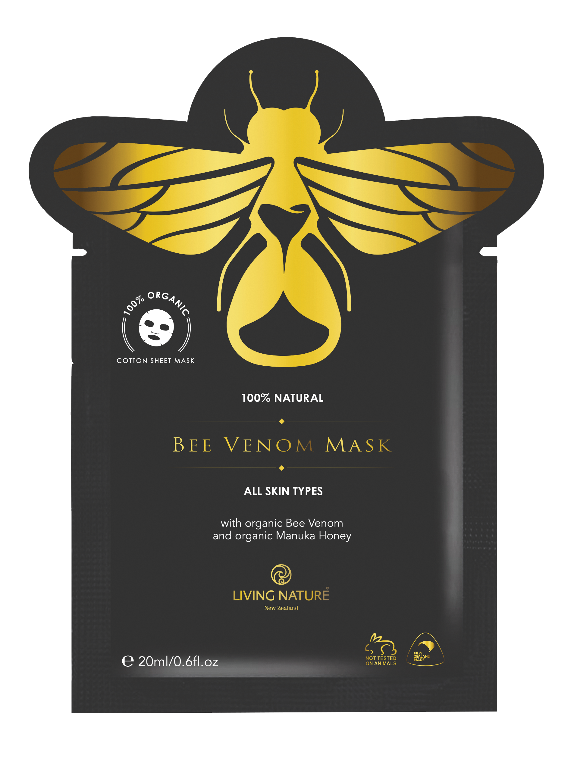 Mặt nạ nọc ong Living Nature Bee Venom Mask chống lão hóa, dưỡng da
