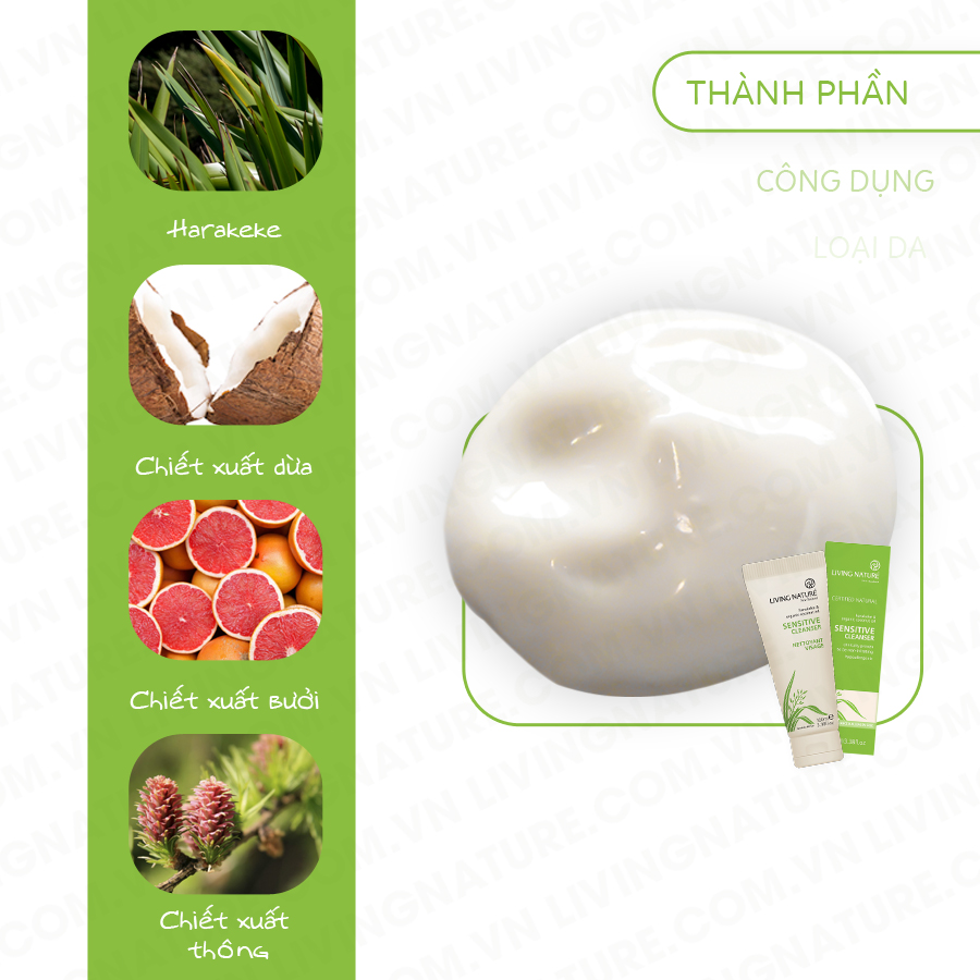 Sữa rửa mặt living nature