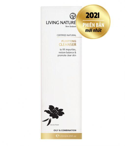 Sữa rửa mặt Living Nature Purifying Cleanser 120ml mẫu mới