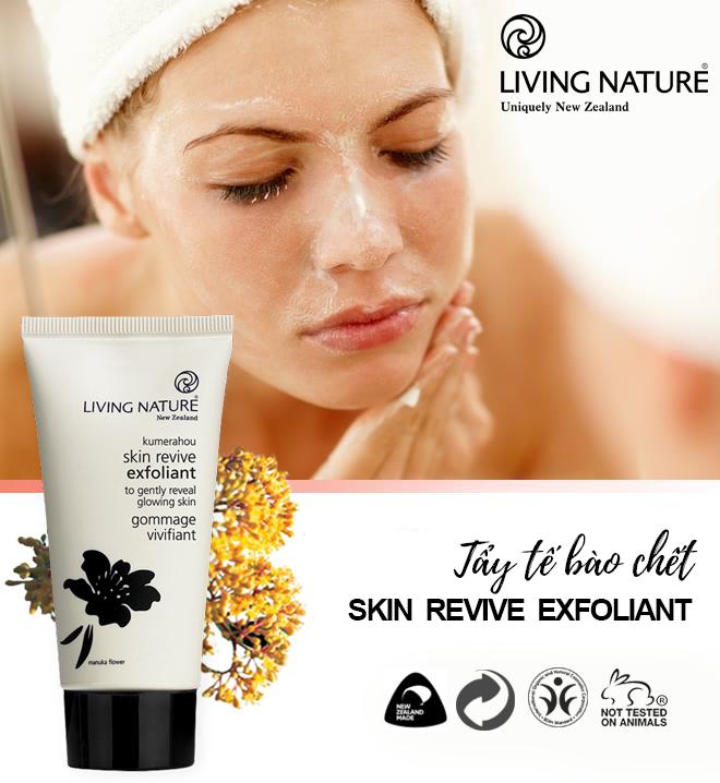 Kem tẩy tế bào chết Living Nature Skin Revive Exfoliant