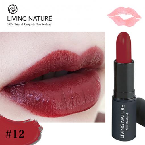 Son môi Living Nature màu đỏ rượu Pure Passion 12 - swatch