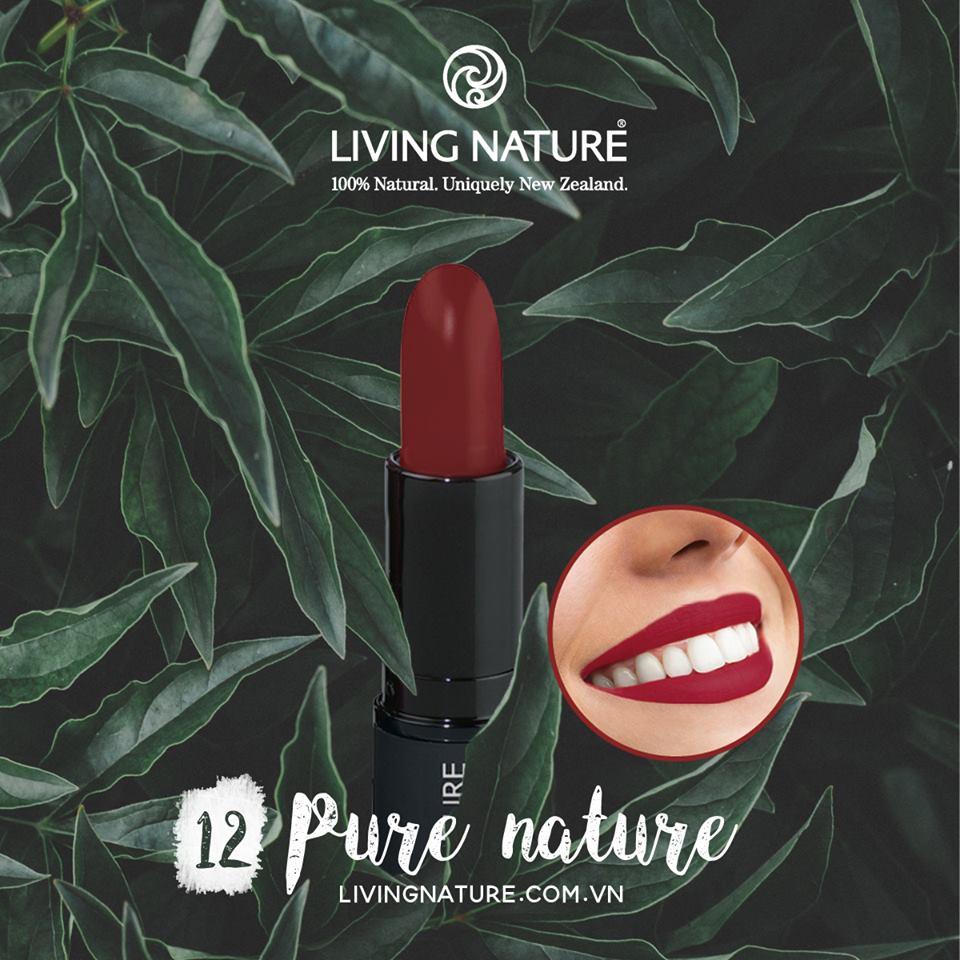 Son môi Living Nature màu đỏ rượu Pure Passion 12