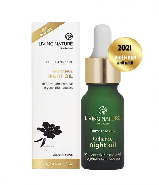 Dầu dưỡng trắng da Living Nature Radiance Night Oil 18ml 2