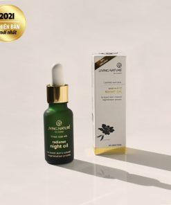 Dầu dưỡng trị nám Living Nature Radiance Night Oil 18ml 4