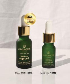 Dầu dưỡng trị nám Living Nature Radiance Night Oil 18ml 5