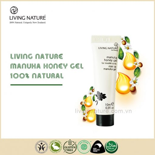 Gel trị mụn mật ong Living Nature Manuka Honey Gel 10ml