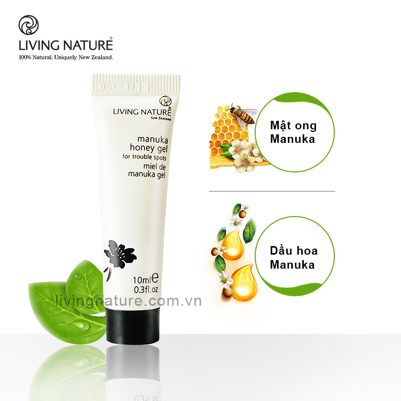 Gel trị mụn thâm mật ong Living Nature Manuka Honey Gel 10ml