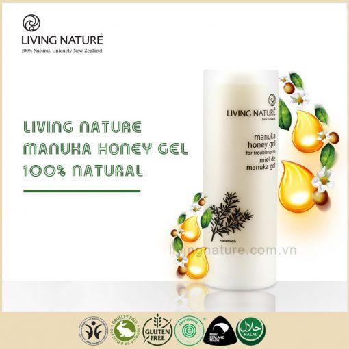 Gel trị mụn mật ong Living Nature Manuka Honey Gel 50ml
