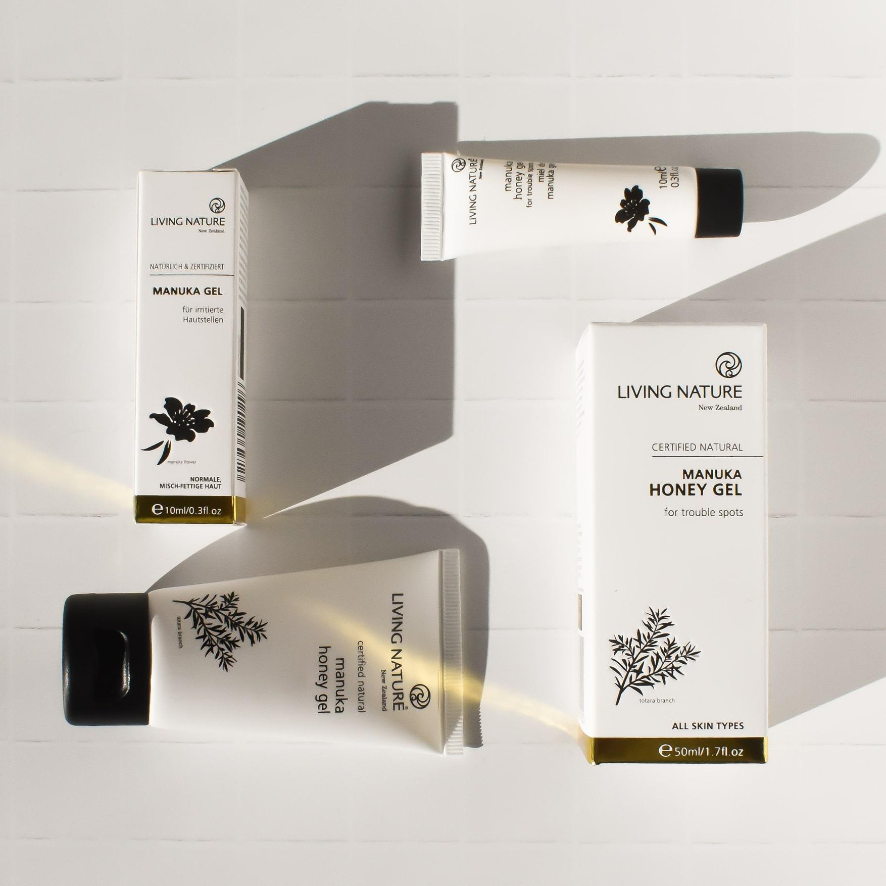 Gel trị mụn Living Nature Manuka Honey Gel 50ml 2021 4