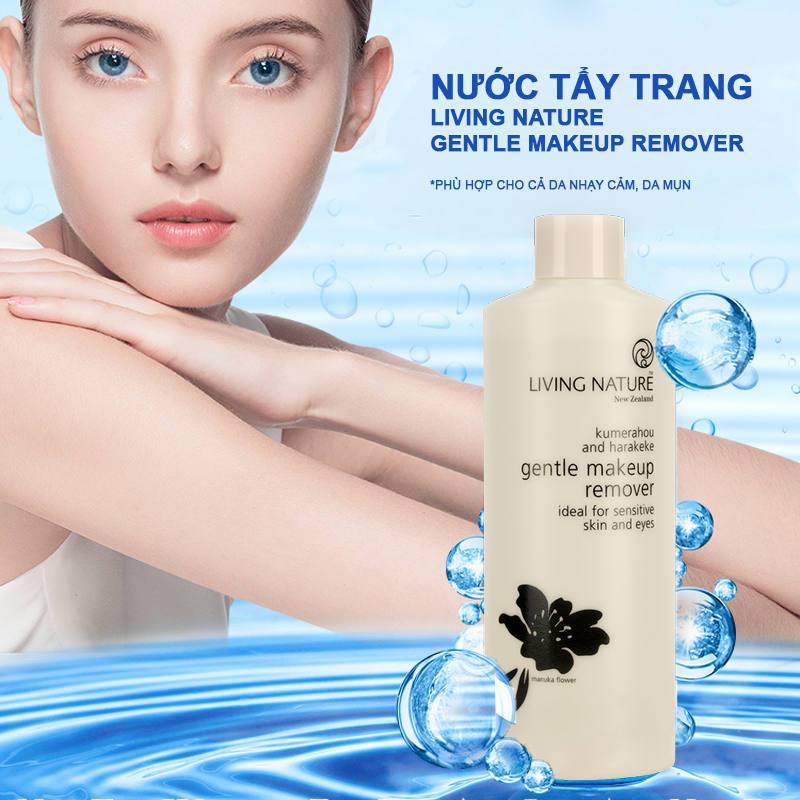 Nước tẩy trang Living Nature Gentle Makeup Remover 6