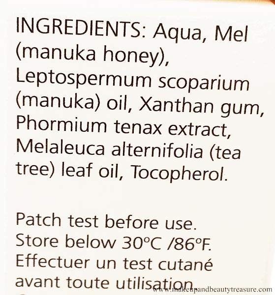 thành phần gel trị mụn Mauka Honey