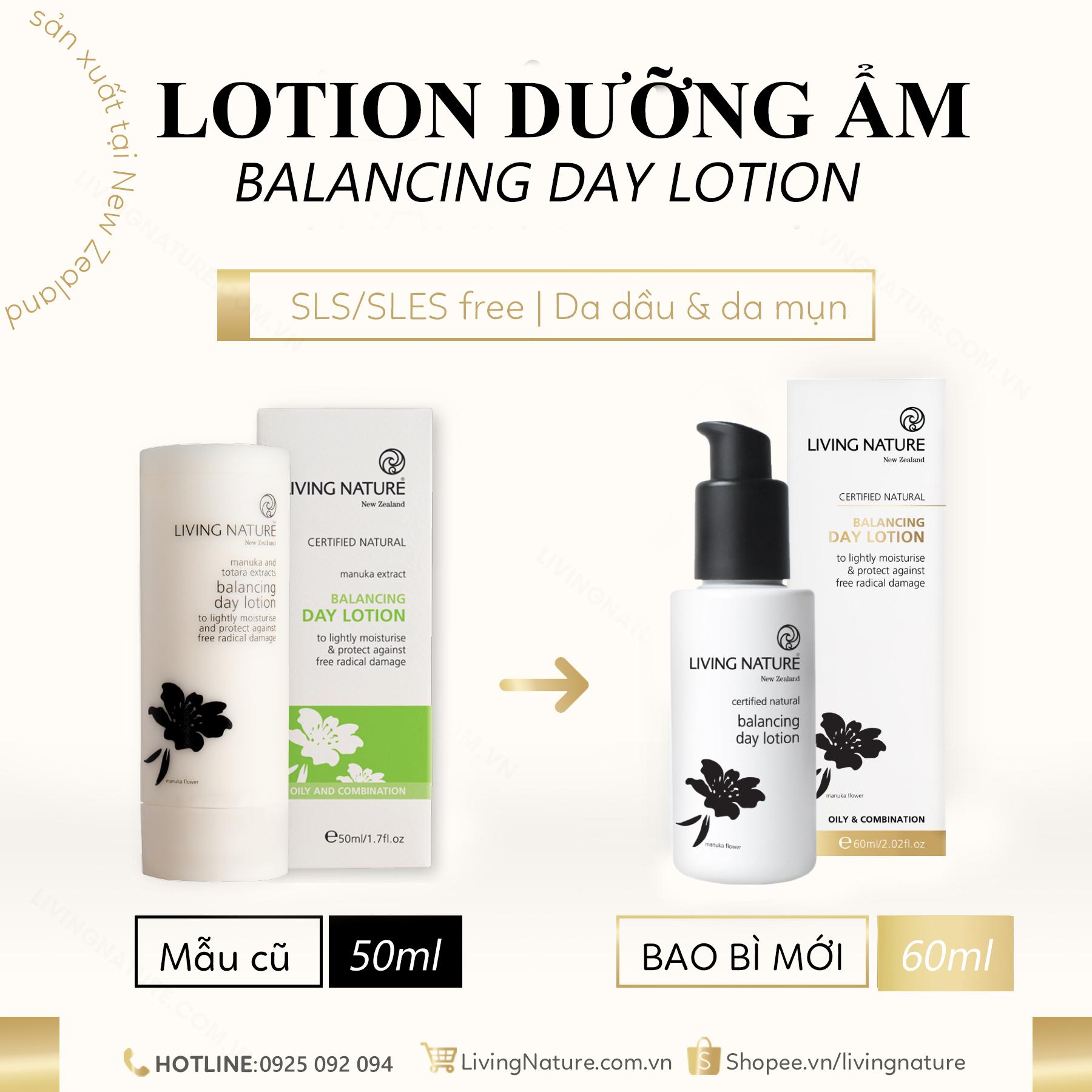 Lotion dưỡng ẩm da dầu mụn Balancing Day Lotion 60ml 2021