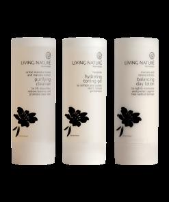Bộ 3 dưỡng da dầu Skin Steps To Purify Oily Skin - Living Nature 1