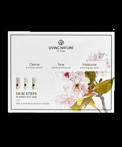 Bộ 3 dưỡng da dầu Skin Steps To Purify Oily Skin - Living Nature