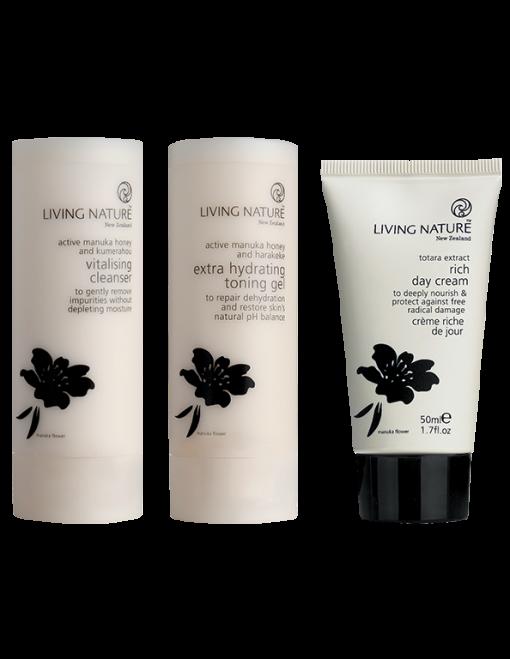 Bộ 3 dưỡng da khôSkin Steps To Enrich Dry Skin - Living Nature 1