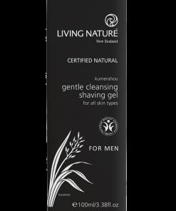 Gel cạo râu Living Nature Gentle Cleansing Shaving Gel 1