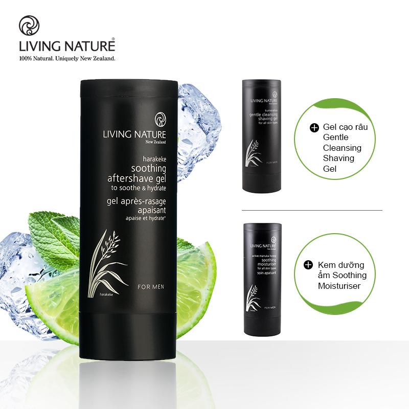 Gel làm dịu da sau cạo râu Living Nature Soothing Aftershave Gel 5