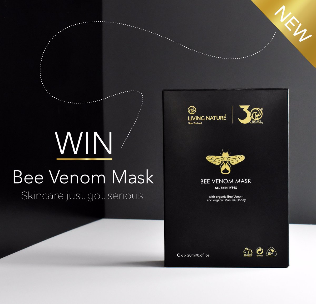 Mặt nạ Living Nature Bee Venom Mask 3