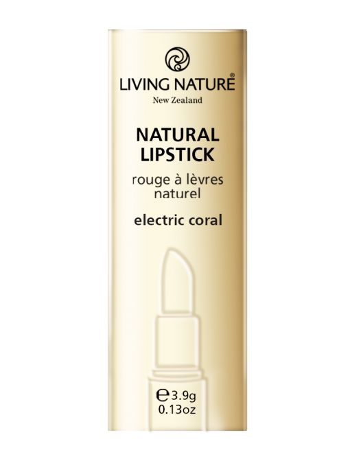 Son môi san hô Living Nature Electric Coral 15 - Limited Edition Lipstick - Vỏ hộp