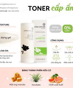 2. Toner cân bằng, dưỡng ẩm Hydrating Toning Gel