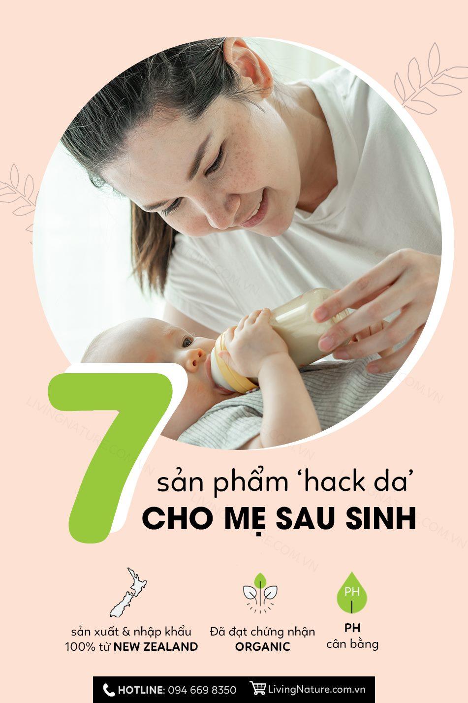 """7 Sản phẩm giúp các mẹ """"hack"""" da sau sinh cấp tốc"""